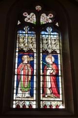 Eglise Saint-Philibert - Deutsch: Bleiglasfenster in der Kirche Saint-Philibert in Charlieu, Darstellung: hl. fr:Claude de Besançon (links) und der hl. Katharina
