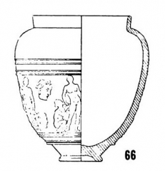 Salle La Diana ou Salle des Etats de Forez - English: Form Dech. 66, in Joseph Déchelette, Les vases céramiques ornés de la Gaule romaine: (Narbonnaise, Aquitaine et Lyonnaise), vol. 1, 1904, plate IV.