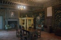 Château de la Bastie-d'Urfé - English: Claude d'Urfé's bedroom