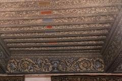 Château de la Bastie-d'Urfé - English:  Painted ceiling of the Claude d'Urfé's bedroom;