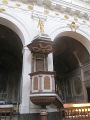 Eglise Saint-Bruno-les-Chartreux -  Lyon (Rhône, France), église St Bruno-les-Chartreux, chaire à prêcher.
