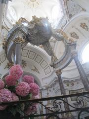 Eglise Saint-Bruno-les-Chartreux -  Lyon (Rhône, France), église St Bruno-les-Chartreux, baldaquin du maître-autel.