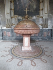 Eglise Saint-Bruno-les-Chartreux -  Lyon (Rhône, France), église St Bruno-les-Chartreux, fonts baptismaux.
