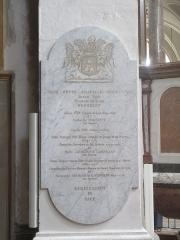 Eglise Saint-Bruno-les-Chartreux -  Lyon (Rhône, France), église St Bruno-les-Chartreux, plaque funéraire de la famille Yon.