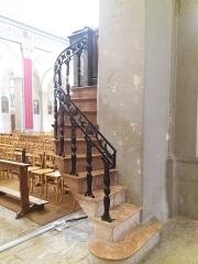 Eglise Saint-Just - Français:   Escalier de la chaire.