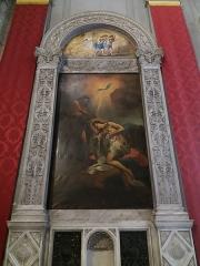 Eglise Saint-Just - Français:   Tableaux des fonts baptismaux.
