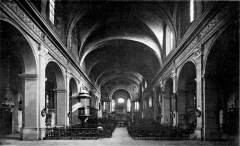 Eglise Saint-Just - Deutsch: Lyon, Kirche Saint-Just, Inneres 1908