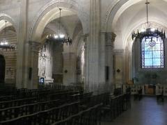 Eglise Saint-Paul - Chapelles de St Vincent de Paul (à gauche), de St Joseph (au centre) et St François Xavier (à droite). Église de Saint-Paul (F-69005, Lyon).