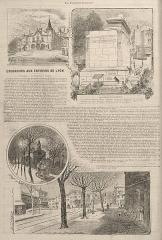 Tombeaux romains de Trion - Français:   Une page du Progrès illustré (Lyon) du 1 mai 1898, page 8 - avec une gravure du Tombeau de Turpio