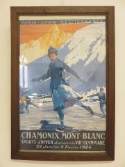 Petit Palais de Conflans - Français:   Musée d\'art et d\'histoire de Conflans: affiche publicitaire des Jeux Olympiques d\'Hivers de Chamonix en 1924
