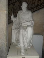 Archevêché - English: A statue of Benoît de Boigne exhibited at the Musée Savoisien museum on October 11, 2014.
