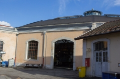 Remise ferroviaire dite rotonde SNCF -  Extérieur de la rotonde du dépot SNCF de Chambéry / Chambéry, Savoie, France