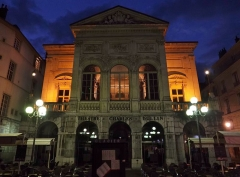 Théâtre municipal - English: Sight, by night, of the théâtre Charles Dullin theater of Chambéry, in Savoie, France.