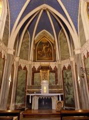 Abbaye de Hautecombe - English: Inside sight of Saint-André chapel, in Hautecombe abbey, in Savoie, France.