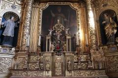 Eglise de Conflans - Français:   Retable de l\'église Saint-Grat (Conflans)