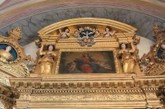 Eglise de Conflans - Français:   Partie haute du retable de l\'église Saint-Grat (Conflans)