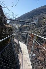 Pont suspendu de la Caille (également sur commune de Cruseilles) -  Belvédère des Ponts @ Ponts de la Caille