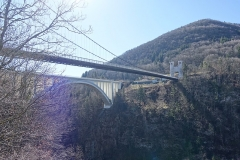 Pont suspendu de la Caille (également sur commune de Cruseilles) -  Bridges @ Belvédère des Ponts @ Ponts de la Caille