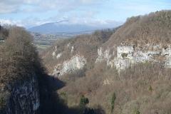 Pont suspendu de la Caille (également sur commune de Cruseilles) -  Gorge @ Pont Charles Albert @ Ponts de la Caille