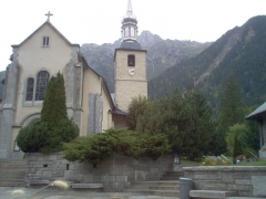 Eglise Saint-Michel - English: image of the main church of Chamonix (Mont Blanc, France)