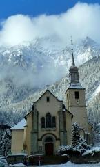 Eglise Saint-Michel -  Église Saint-Michel de Chamonix-Mont-Blanc, au mois de janvier 2016.