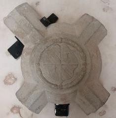 Château - Français:   Blason en relief aux armes de Gallois de Regard