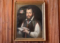 Château - Français:   Portrait de Gallois de Regard, dans le château de Clermont (Haute-Savoie).