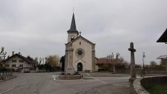 Croix de carrefour dite Croix de Verrières - English:   St. Lawrence Church of Neydens