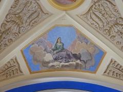 Eglise Saint-Nicolas-de-Véroce - Représentation de la vertu de l'espérance dans l'église Saint-Nicolas-de-Véroce située à Saint-Gervais-les-Bains, Haute-Savoie, France.