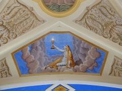 Eglise Saint-Nicolas-de-Véroce - Représentation de la vertu de la foi dans l'église Saint-Nicolas-de-Véroce située à Saint-Gervais-les-Bains, Haute-Savoie, France.