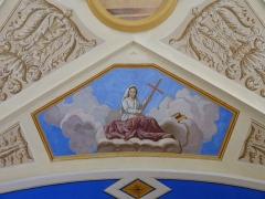 Eglise Saint-Nicolas-de-Véroce - Représentation de la vertu de la religion dans l'église Saint-Nicolas-de-Véroce située à Saint-Gervais-les-Bains, Haute-Savoie, France.