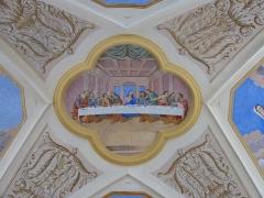 Eglise Saint-Nicolas-de-Véroce - Représentation de la sainte cène dans l'église Saint-Nicolas-de-Véroce située à Saint-Gervais-les-Bains, Haute-Savoie, France.
