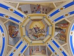 Eglise Saint-Nicolas-de-Véroce - Représentation de saint Nicolas de Véroce dans l'église Saint-Nicolas-de-Véroce située à Saint-Gervais-les-Bains, Haute-Savoie, France.