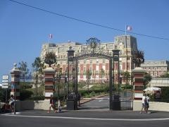 Hôtel du Palais - Français:   Biarritz, entrée de l\'hôtel du Palais.