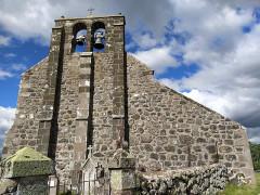 Eglise Saint-Roch de Fortuniès -  église Saint Roch depuis cimetière attenant