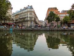 Canal Saint-Martin -  Canal Saint-Martin, Paris, France.
