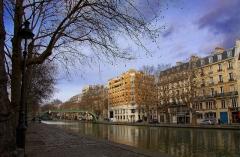 Canal Saint-Martin -  Canal Saint-Martin, Paris.
