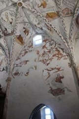 Palais épiscopal - Cathédrale Notre-Dame-de-la-Sède de Saint-Lizier - Peintures murales de la fin du XVème siècle