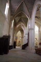 Ancienne abbaye Saint-Jean - Français:   Sorde l\'Abbaye - Église, nef colatéral nord en regardant vers l\'absidiole. A gauche le confessional
