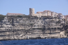 Escalier du roi d'Aragon - Français:   L\'escalier du roi d\'Aragon à Bonifacio