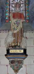 Eglise Sainte-Marie-Madeleine - Deutsch: Skulptur der Heiligen Ste Germaine in Ste Marie-Madeleine in Rennes-le-Chateau