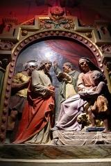 Eglise Sainte-Marie-Madeleine - Deutsch: Wandfresko (Relief) in der Kirche von de:Rennes-le-Château