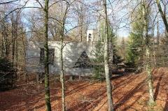 Ermitage de Saint-Rouin, puis chapelle de pèlerinage - Français:   La chapelle en automne