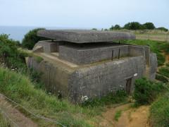 Batterie d'artillerie de Longues - English:   Forward bunker Longues sur mer battery, between Omaha and Gold beach, Normandy,