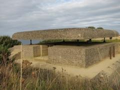 Batterie d'artillerie de Longues - Français:   Salle du haut du poste de tir de la batterie de Longues-sur-Mer.