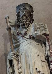 Ancien couvent des Cordeliers - Français:   Saint Jacques le Majeur, calcaire polychrome, par le \
