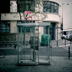 Ecole normale supérieure -  Telephone booth, Rue Érasme, Paris.