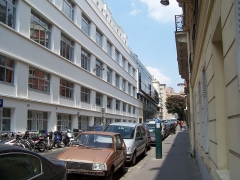 Ecole normale supérieure - English: View of the street, with some building of the École normale supérieur on the left.