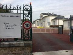 Domaine national de Saint-Cloud - Le Pavillon de Breteuil, Saint-Cloud (adresse postale Sèvres), France, siège du Bureau international des poids et mesures.