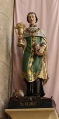 Eglise du Centre ou Saint-Clodoald - Deutsch: katholische Pfarrkirche Saint-Clodoald in Saint-Cloud, Statue des hl. Chlodoald
